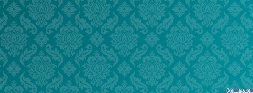 teal damask pattern facebook cover timeline photo banner