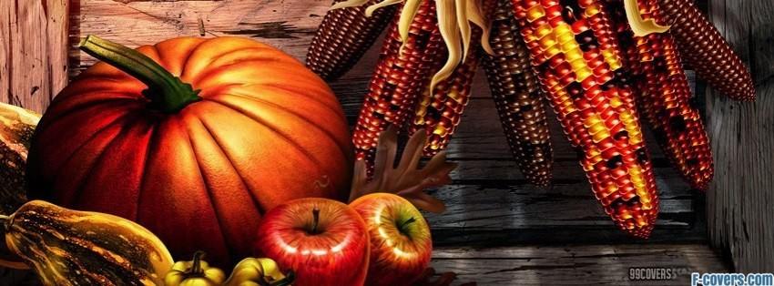 Thanksgiving Pumpkin Corn Facebook Cover Timeline Photo
