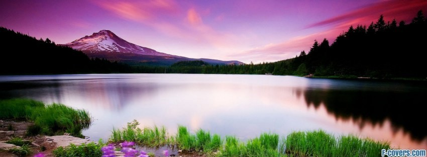 The Beautiful Natural Lake Facebook Cover Timeline Photo