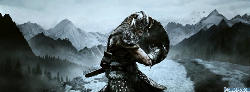 the elder scrolls v skyrim pc facebook cover