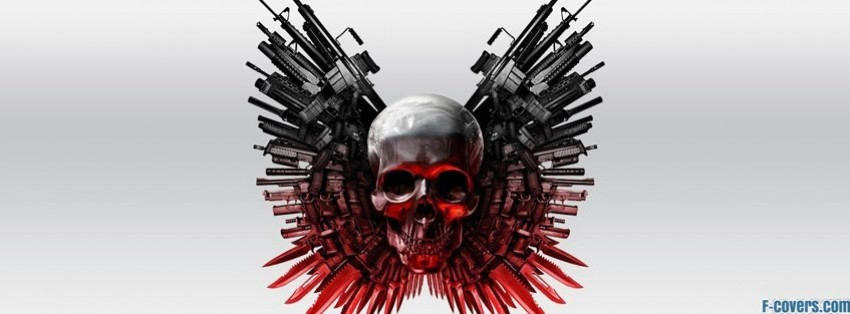 the expendables skull facebook cover