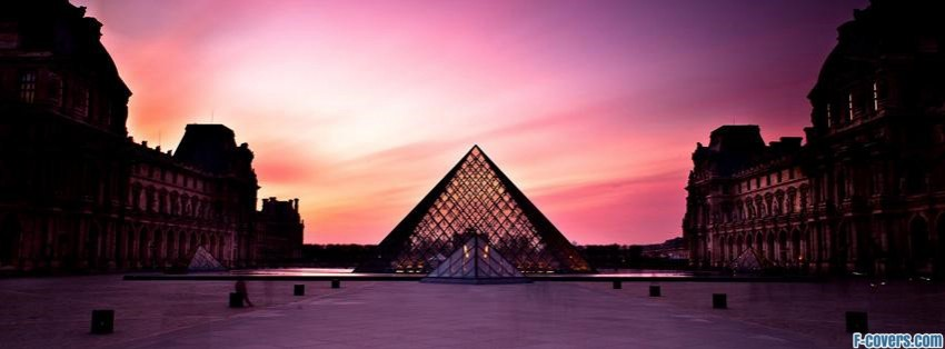 the louvre palace and the pyramid facebook cover