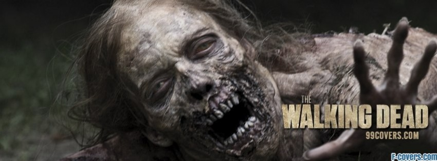 the walking dead zombie facebook cover