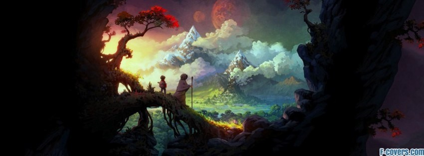 the wormworld saga children fantasy art facebook cover