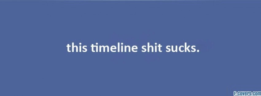 timeline sucks facebook cover