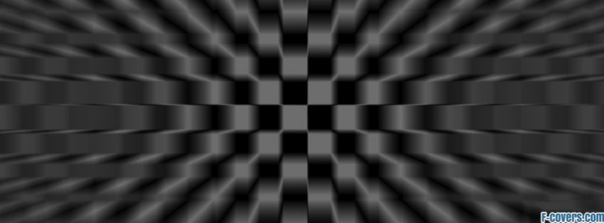 trippy black and white checkered pattern facebook cover