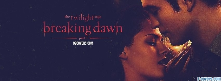 twilight breaking dawn edward and bella facebook cover