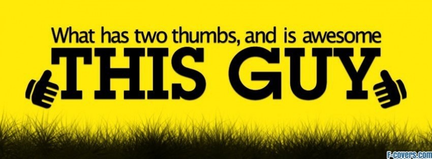 two thumbs at profile pic facebook cover