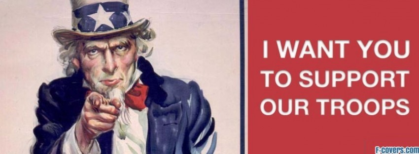 uncle sam support troops facebook cover