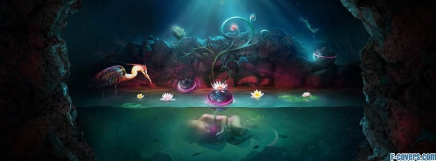underwater fantasy art facebook cover