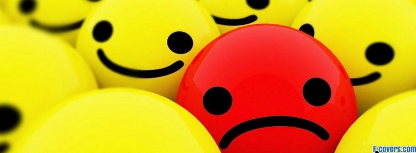 unhappy in happy facebook cover
