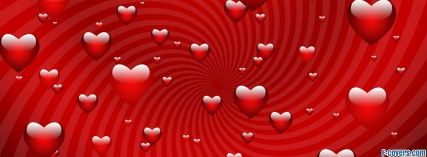 Valentine Day Red Hearts Facebook Cover Timeline Photo Banner For Fb