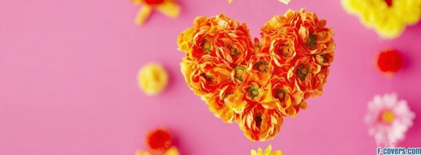 valentines day bouquet heart facebook cover
