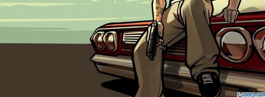 vector gun car gangsta facebook cover