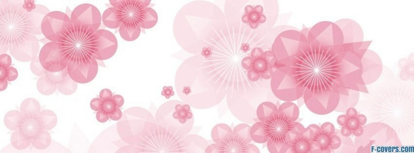 vector simple flowers facebook cover