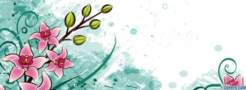 vectored flowers facebook cover