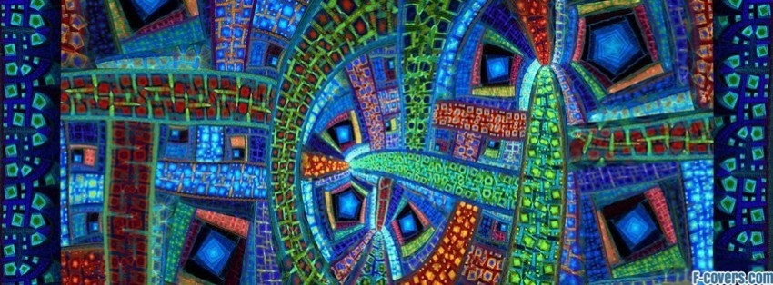 vibrant mosaic pattern facebook cover timeline photo