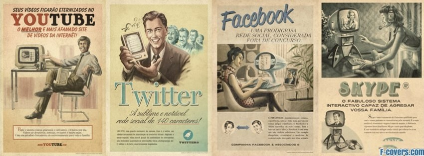 vintage advertisement facebook cover