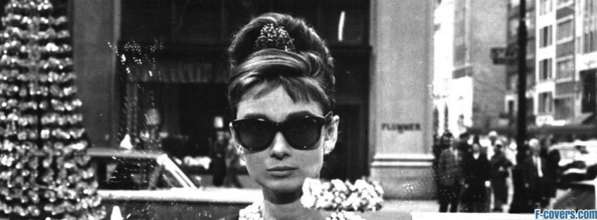 vintage audrey hepburn breakfast at tiffanys facebook cover
