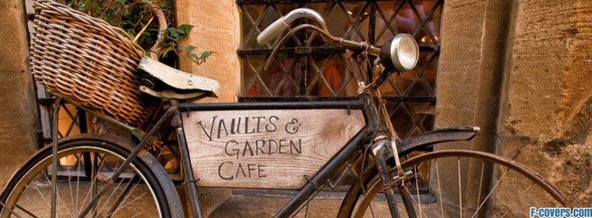 vintage bicycle cafe sign facebook cover