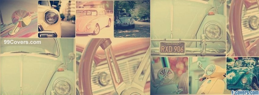 vintage car collage facebook cover
