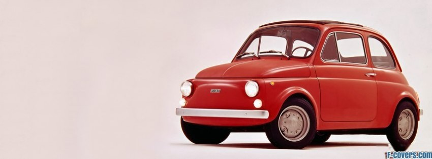 vintage car fiat 500 facebook cover