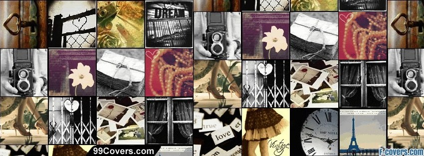 vintage collage facebook cover