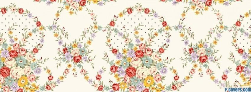 vintage floral pattern Facebook Cover timeline photo ...