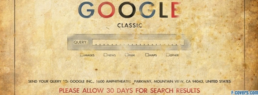 vintage google facebook cover