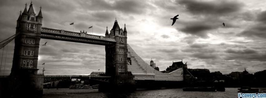 Vintage London Tower Bridge Facebook Cover