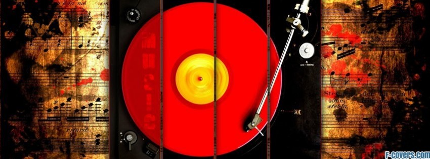 vintage record player facebook cover