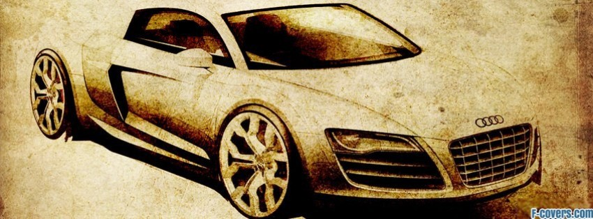 vintage sketches audi r8 facebook cover