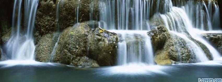waterfall at bokarani national park thailand facebook cover