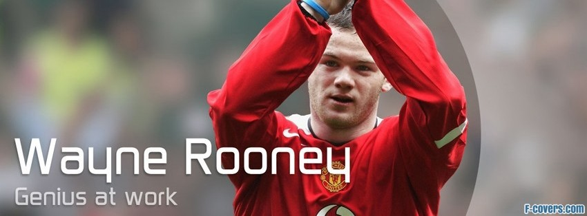 wayn rooney genuis facebook cover