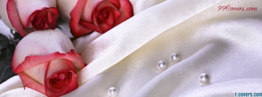 wedding roses and pearls facebook cover