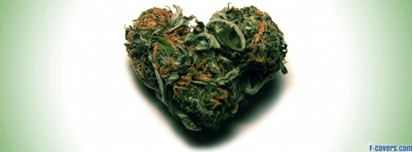 weed heart facebook cover