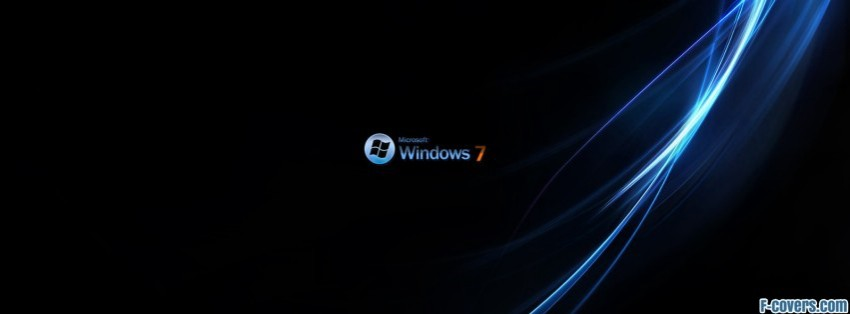 windows 7 black 2 Facebook Cover timeline photo banner for fb