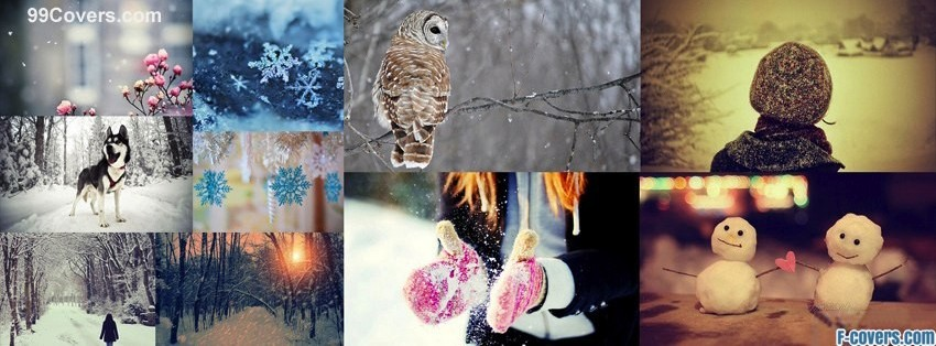 winter snow collage facebook cover