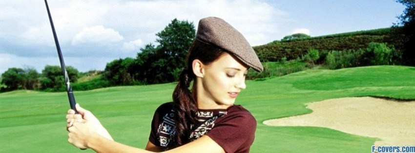 woman golfing facebook cover