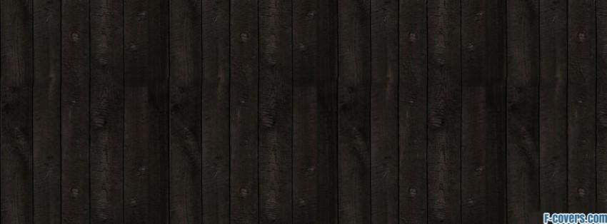 Wood Pattern Dark Brown Facebook Cover