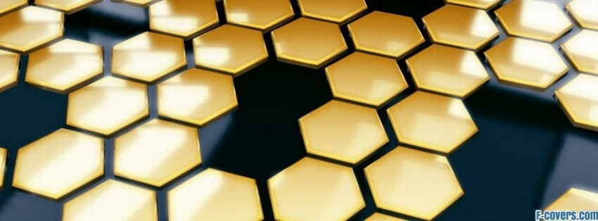 yellow black hexagon pattern facebook cover timeline photo