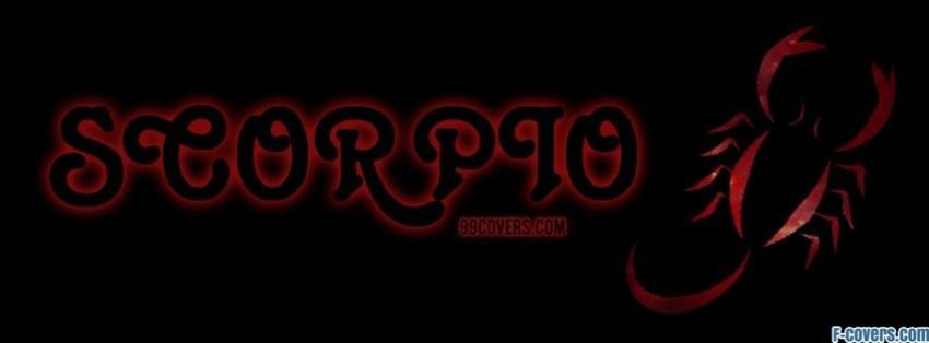 zodiac scorpio facebook cover