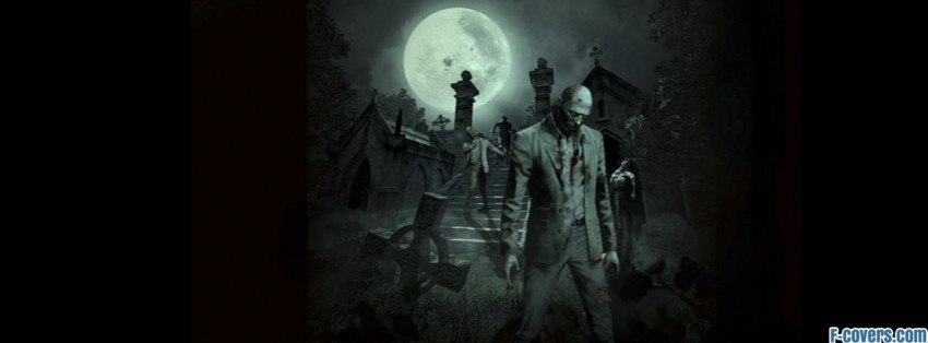 Zombie Cemetary Facebook Cover Timeline Photo Banner For Fb