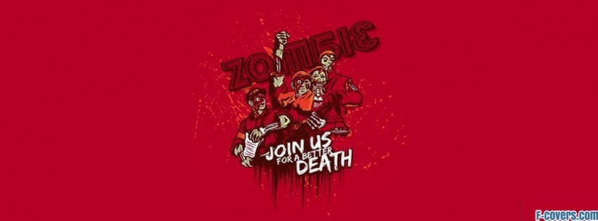 zombie death zombies funny facebook cover