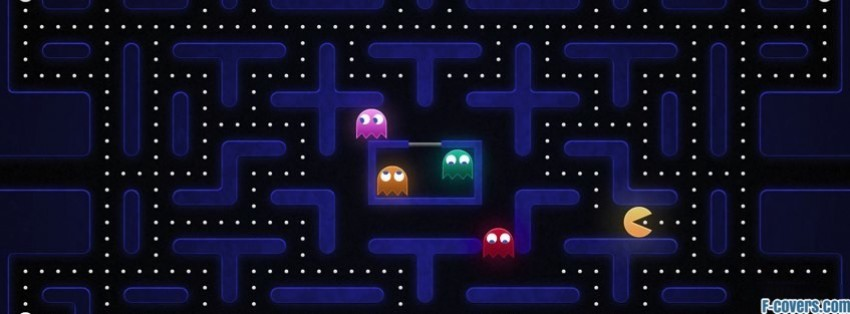 Attractive pac man Facebook Cover timeline photo banner for fb NB23
